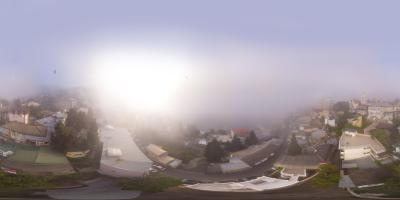 Ялта ул Дражинского туман с моря...