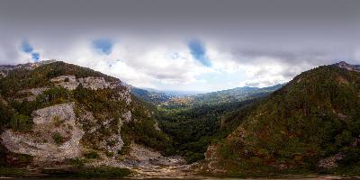 Ялта водопад Учан-Су 360 вид с высоты