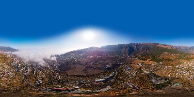 Ялта над трассой аэропанорама 360 туман с моря